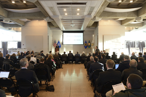 Johns Hopkins University hosted 117 researchers and students from 22 academic and government institutions for the EMRM Research Management Board on January 6, 2016.. (Photo: Will Kirk, Homewood Photography)