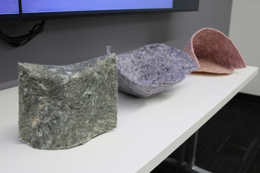Samples of Amanda's textile work.