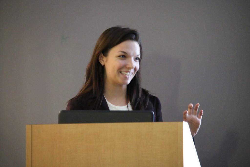Amanda describes her work with HEMI Professor Sung Hoon Kang.