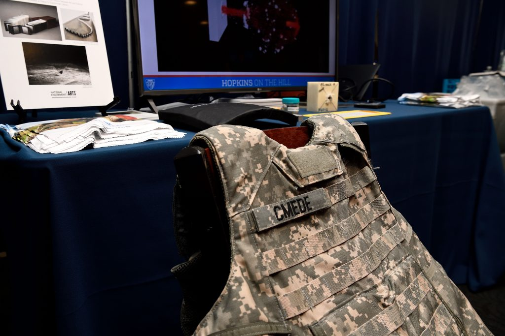 US Army armored vest on chair